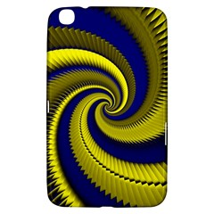 Blue Gold Dragon Spiral Samsung Galaxy Tab 3 (8 ) T3100 Hardshell Case  by designworld65