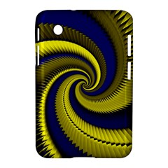 Blue Gold Dragon Spiral Samsung Galaxy Tab 2 (7 ) P3100 Hardshell Case  by designworld65