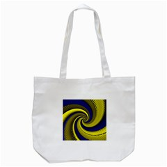 Blue Gold Dragon Spiral Tote Bag (white) by designworld65