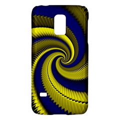 Blue Gold Dragon Spiral Galaxy S5 Mini by designworld65