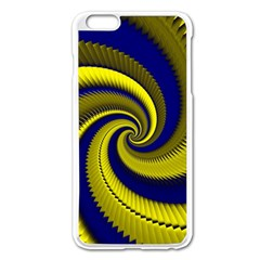 Blue Gold Dragon Spiral Apple Iphone 6 Plus/6s Plus Enamel White Case