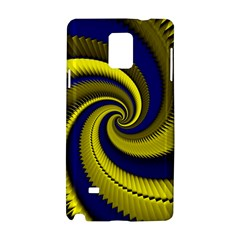 Blue Gold Dragon Spiral Samsung Galaxy Note 4 Hardshell Case by designworld65