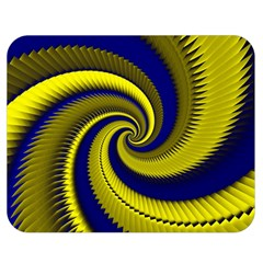Blue Gold Dragon Spiral Double Sided Flano Blanket (medium)