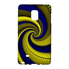 Blue Gold Dragon Spiral Galaxy Note Edge