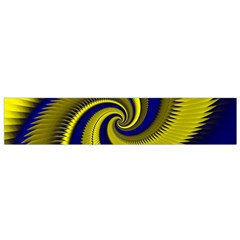 Blue Gold Dragon Spiral Flano Scarf (small) by designworld65