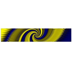 Blue Gold Dragon Spiral Flano Scarf (large)