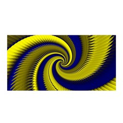 Blue Gold Dragon Spiral Satin Wrap by designworld65