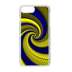 Blue Gold Dragon Spiral Apple Iphone 7 Plus White Seamless Case by designworld65