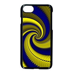 Blue Gold Dragon Spiral Apple Iphone 7 Seamless Case (black) by designworld65