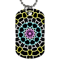 Colored Window Mandala Dog Tag (two Sides) by designworld65
