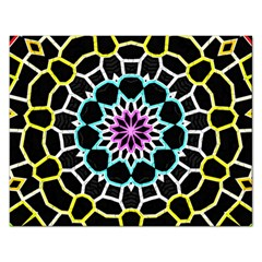 Colored Window Mandala Rectangular Jigsaw Puzzl