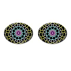 Colored Window Mandala Cufflinks (oval) by designworld65