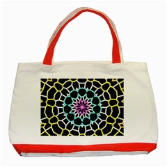 Colored Window Mandala Classic Tote Bag (red) by designworld65
