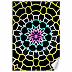 Colored Window Mandala Canvas 12  X 18