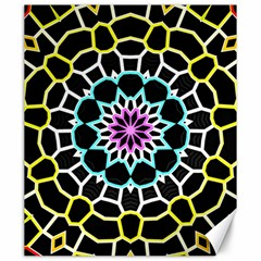 Colored Window Mandala Canvas 20  X 24   by designworld65