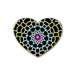Colored Window Mandala Heart Coaster (4 pack)  Front