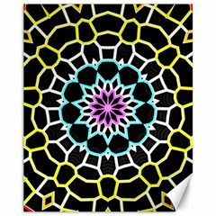 Colored Window Mandala Canvas 11  X 14