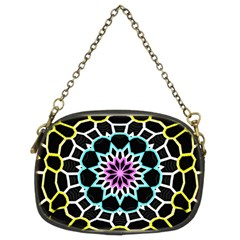 Colored Window Mandala Chain Purses (two Sides)  by designworld65