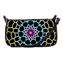 Colored Window Mandala Shoulder Clutch Bags by designworld65