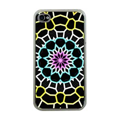 Colored Window Mandala Apple Iphone 4 Case (clear)