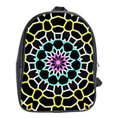 Colored Window Mandala School Bag (xl) by designworld65