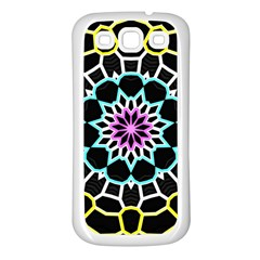 Colored Window Mandala Samsung Galaxy S3 Back Case (white)
