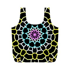 Colored Window Mandala Full Print Recycle Bags (m)  by designworld65
