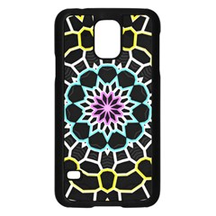 Colored Window Mandala Samsung Galaxy S5 Case (black) by designworld65