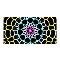 Colored Window Mandala Satin Wrap by designworld65