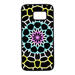 Colored Window Mandala Samsung Galaxy S7 Black Seamless Case