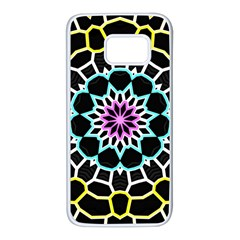 Colored Window Mandala Samsung Galaxy S7 White Seamless Case