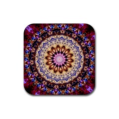 Dreamy Mandala Rubber Square Coaster (4 Pack)  by designworld65