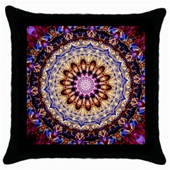 Dreamy Mandala Throw Pillow Case (black) by designworld65
