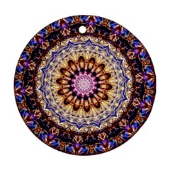 Dreamy Mandala Round Ornament (two Sides) by designworld65