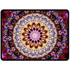 Dreamy Mandala Double Sided Fleece Blanket (large)