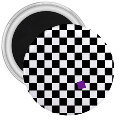 Dropout Purple Check 3  Magnets by designworld65