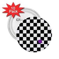 Dropout Purple Check 2 25  Buttons (10 Pack)  by designworld65