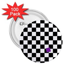 Dropout Purple Check 2 25  Buttons (100 Pack)  by designworld65