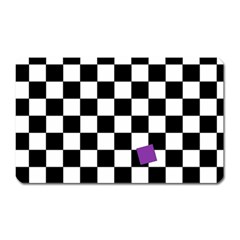 Dropout Purple Check Magnet (rectangular) by designworld65
