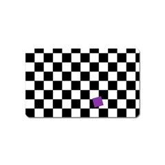 Dropout Purple Check Magnet (name Card) by designworld65