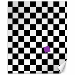 Dropout Purple Check Canvas 16  X 20   by designworld65