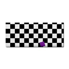 Dropout Purple Check Cosmetic Storage Cases by designworld65