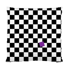 Dropout Purple Check Standard Cushion Case (one Side) by designworld65