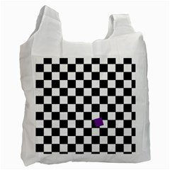 Dropout Purple Check Recycle Bag (one Side) by designworld65