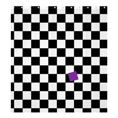 Dropout Purple Check Shower Curtain 66  X 72  (large)  by designworld65