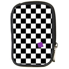 Dropout Purple Check Compact Camera Cases by designworld65
