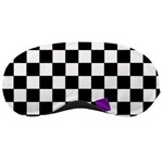 Dropout Purple Check Sleeping Masks Front