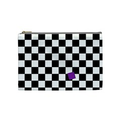 Dropout Purple Check Cosmetic Bag (medium)  by designworld65