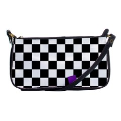 Dropout Purple Check Shoulder Clutch Bags by designworld65