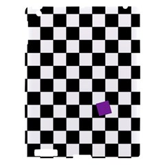 Dropout Purple Check Apple Ipad 3/4 Hardshell Case by designworld65